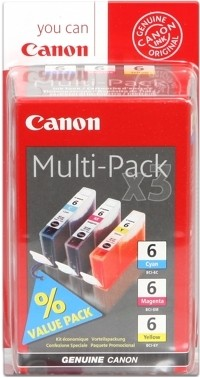 CANON BCI-6 Multipack Cyan Magenta Yellow