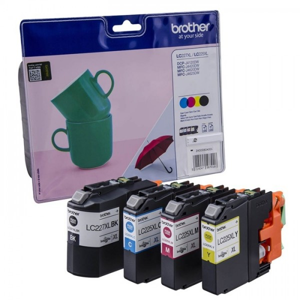 Brother LC227XLVALBPDR Value Pack Tinte C M Y K HIGH CAPACITY