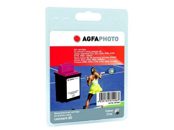 AGFAPHOTO L80C Lexmark CJP3200 Tinte Color27ml