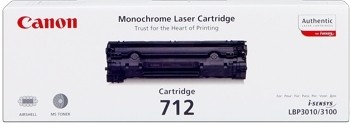 Canon Cartridge 712 Black 1870B002 LBP3010 EP712