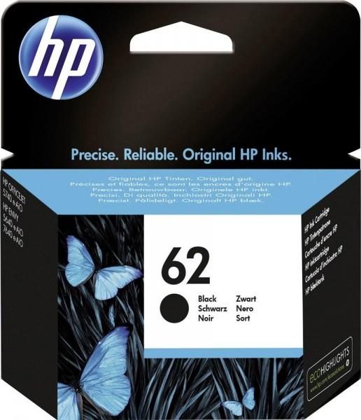 HP 62 Tinte schwarz Standardkapazität 1er-Pack C2P04AE