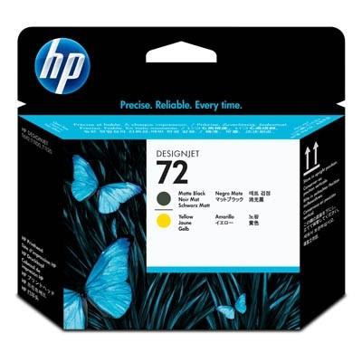 HP 72 Druckkopf Schwarz matt + Gelb für DesignJet T700 T1100 T1200 T2300 C9384A
