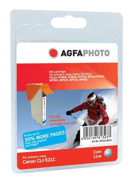 AGFAPHOTO CCLI521C Canon MP450 Tinte cyan