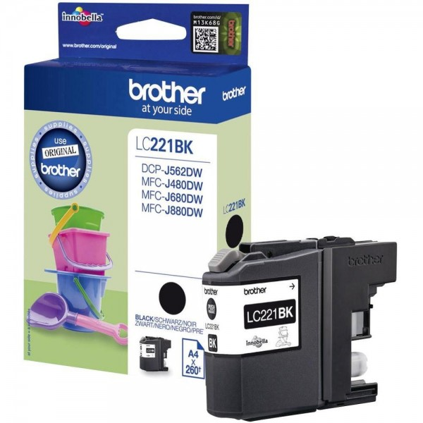 Brother Tintenpatrone Black LC221BK für DCP J 562 DW