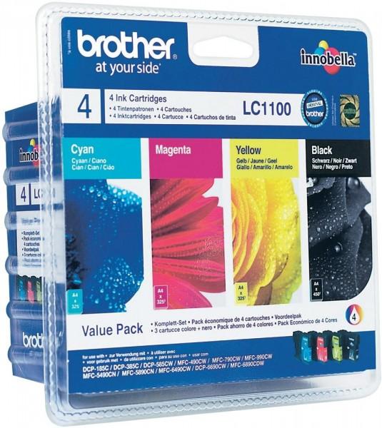 Brother Valuepack Schwarz Magenta Cyan und gelb fuer DCP-185C, -385C