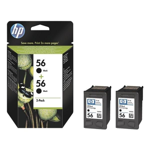 HP 56 Druckpatrone Black DJ5550 No.56 Doppelpack C9502AE
