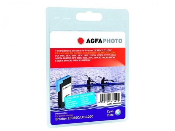 AGFAPHOTO APB1100CD Brother Tinte für MFC-790 Cyan