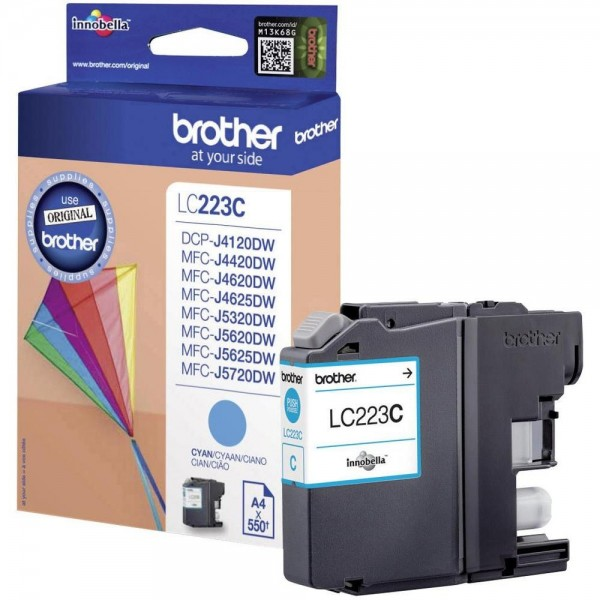 Brother LC-223C Tinte Cyan Original MFC-J4620DW MFC-J5720DW