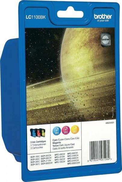 BROTHER Rainbowpack cyan magenta gelb für DCP-185C, -385C, -395CN, -585CW