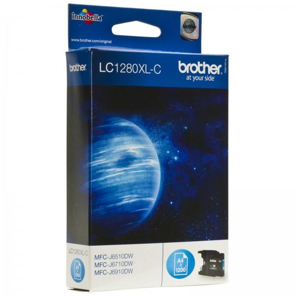 Brother LC1280XL Tinte Cyan MFC-J6510DW MFC-J6710DW MFC-J6910DW