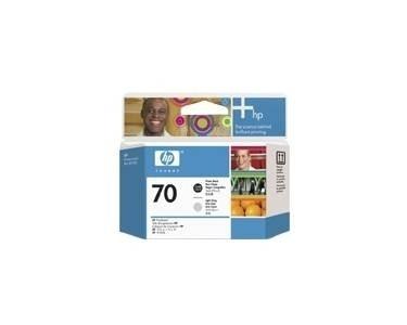 HP 70 Druckkopf Fotoschwarz + Grau hell DesignJet Z2100 C9407A