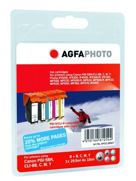 AGFAPHOTO CCLI8SET Canon MP800 SET
