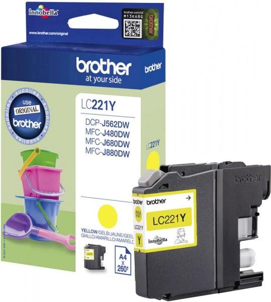 Brother Tintenpatrone Yellow LC221Y für DCP J 562 DW