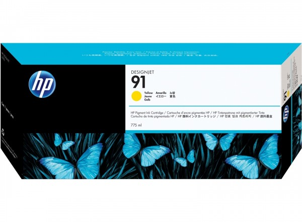HP 91 Tinte Yellow für DesignJet Z6100 C9469A