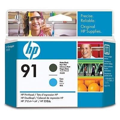 HP 91 Druckkopf Black Matt / Cyan für DesignJet Z6100