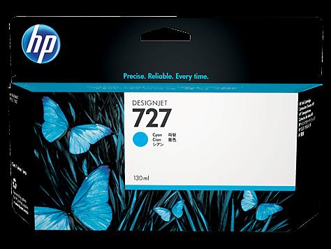 HP 727 Tinte Cyan für DesignJet T920 T1500 T2500 B3P19A
