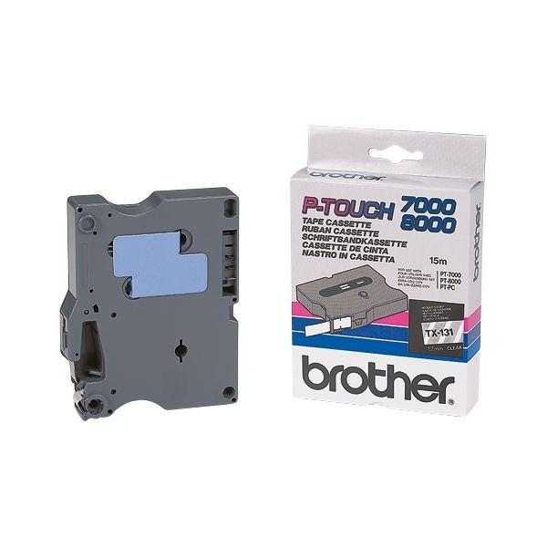 Brother TX231 P-TOUCH 12mm Schwarz auf Weiß P-Touch 7000 8000 PC