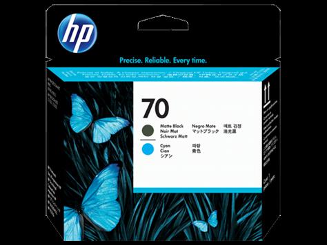HP 70 Druckkopf Cyan + matt Schwarz für DesignJet Z2100