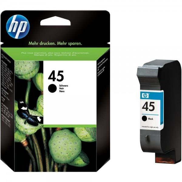HP 45 Tinte Black DJ700 DJ750 DJ755 DJ1000