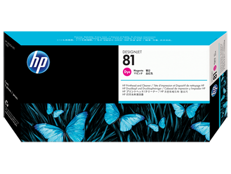 HP 81 Druckkopf incl. Reiniger Magenta DJ5000 Serie