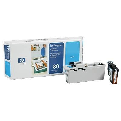 HP 80 Druckkopf Cyan DesignJet 1050C 1055CM C4821A Druckkopfreiniger