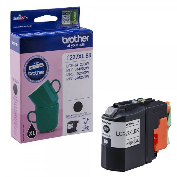 Brother LC-227XL BK Tinte Black Original Patrone HIGH CAPACITY