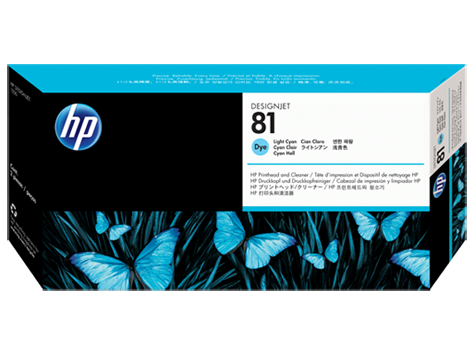 HP 81 Druckkopf incl. Reiniger Cyan hell LJ5000 Serie
