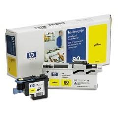HP 80 Druckkopf Yellow für DesignJet 1050C 1055CM incl. Druckkopfreiniger