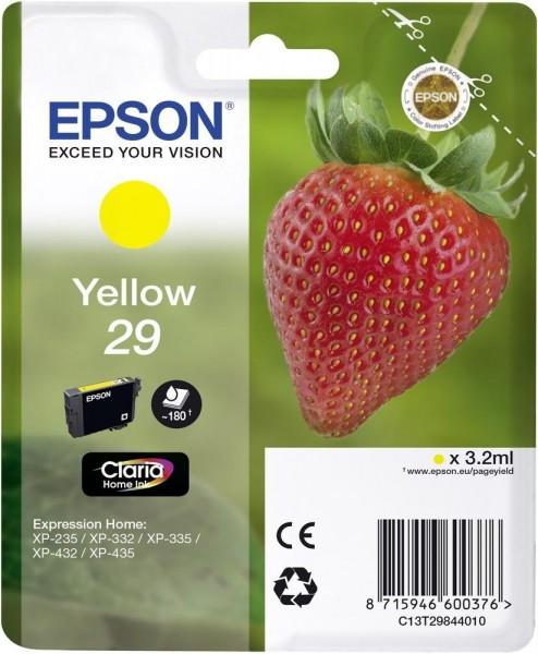 Epson Tinte Erdbeere 29 Yellow Claria Home Singlepack