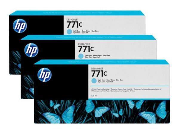 HP 771C Tinte Z6200 3er Pack light cyan B6Y36A
