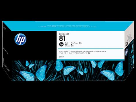 HP 81 Tinten Schwarz HP DesignJet 5000 Serie