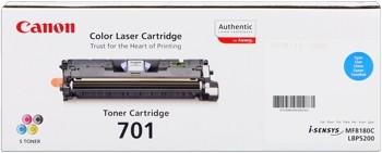 Canon 701 Toner Cartridge Cyan LBP5200 MF8180 9286A003