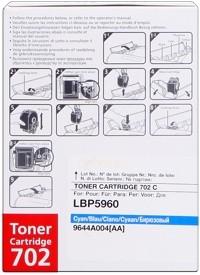 Canon 702 Toner Cartridge Cyan LBP5970 LBP5975 9644A004