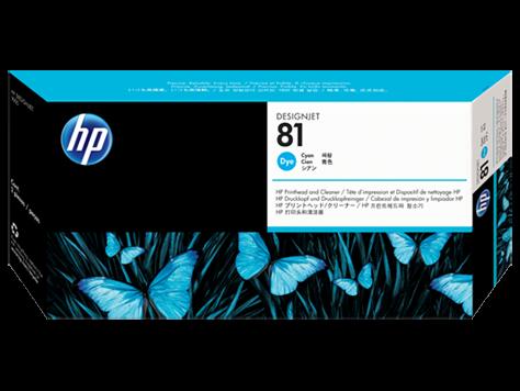 HP 81 Druckkopf incl. Reiniger Cyan DJ5000 Serie