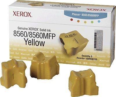 XEROX 108R00725 PH8560 8560MFP Solid Ink 3 Sticks Yellow