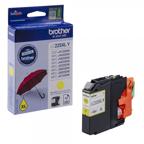 Brother LC-225XLY Tinte Yellow Original Patrone HIGH CAPACITY
