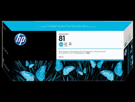 HP 81 Tinte Cyan für HP DesignJet 5000 Serie