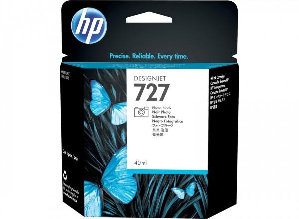 HP 727 Tinte Foto Schwarz 40ml DesignJet T920 T1500 T2500