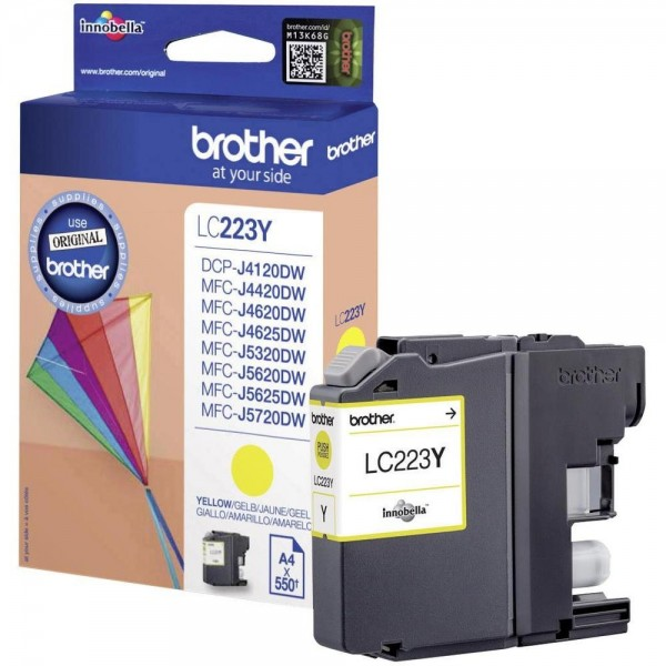 Brother LC-223Y Tinte Yellow Original MFC-J4620DW MFC-J5720DW