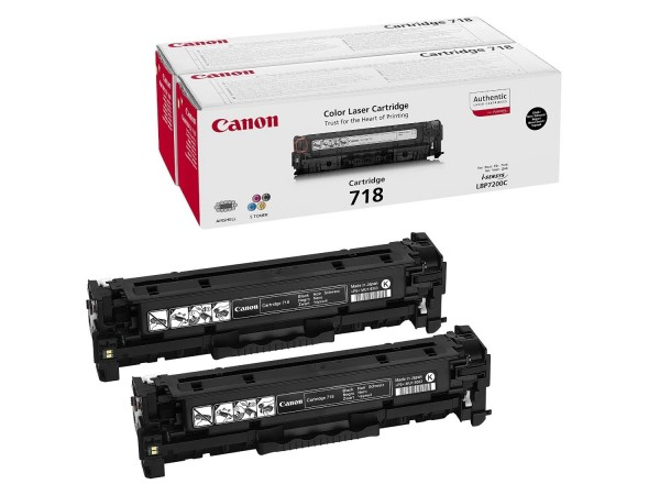 Canon 718B Toner Black 2662B005 LBP 7200 MF8350 Doppelpack