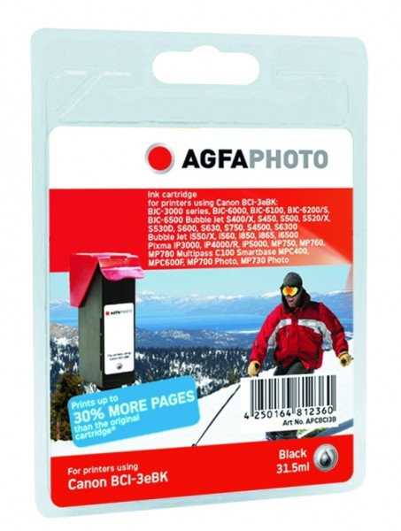 AGFAPHOTO CBCI3B Canon BJC-6000 Tinte black